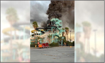 Fire at CA Splash Kingdom Waterpark