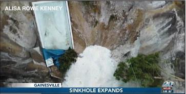 Florida sinkhole swallows swimming pool