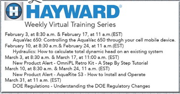 Hayward now offering virtual training