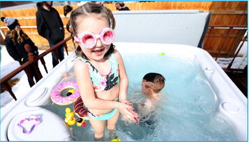 Make-A-Wish & Mountain Hot Tub delight girl