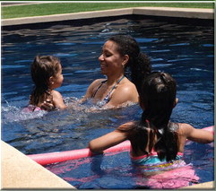 Survival swimming skills